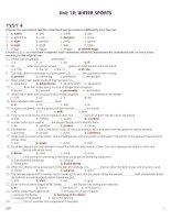 Bài giảng 12 CB UNIT 12 TEST 4