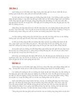 Tài liệu Bài văn tả con đường từ nhà đến trường
