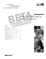 Module 13: Managing Network Security