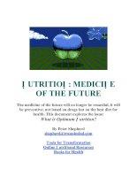 Nutrition: Medicine of the Future