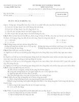 Tài liệu Vật Lý 12: Đề thi - Đáp án HK1 2010-2011