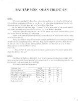 Giáo trình quản lý dự án- Bài tập