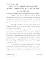 THỰC TRẠNG PHÂN TÍCH TÌNH HÌNH TÀI CHÍNH TẠI CÔNG TY CỔ PHẦN CHẾ TẠO MÁY BIẾN THẾ HÀ NỘI