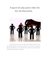 8 nguyên tắc giúp quản lý nhân viên làm việc đúng hướng