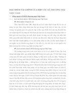 ĐẶC ĐIỂM TÀI CHÍNH CỦA HỢP TÁC XÃ THƯƠNG MẠI VIỆT NAM