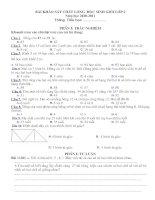 Bài giảng Đề  Đ/A học sinh giỏi L2