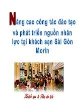 Nâng cao công tác đào tạo và phát triển nhân lục tai khách sạn MORIN huế