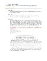 Bài giảng Giao trinh TK banner flash