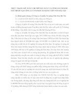 THỰC TRẠNG KẾ TOÁN CHI PHÍ SẢN XUẤT VÀ TÍNH GIÁ THÀNH SẢN PHẨM TẠI CÔNG TY CỔ PHẦN XI MĂNG TIÊN SƠN HÀ TÂY