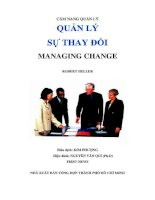 Quản lý sự thay đổi - Cẩm nang quản lý hiệu quả