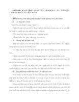 GIẢI PHÁP HOÀN THIỆN PHÂN TÍCH TÀI CHÍNH  CỦA   CÔNG TY TNHH QUẢNG CÁO LIÊN MINH