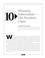 Misusing Information—The Numbers Game