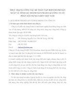 THỰC TRẠNG CÔNG TÁC KẾ TOÁN TẬP HỢP CHI PHÍ SẢN XUẤT VÀ TÍNH GIÁ THÀNH SẢN PHẨM TẠI CÔNG TY CỔ PHẦN XÂY DỰNG FADIN VIỆT NAM