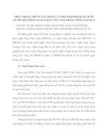 THỰC TRẠNG NHỮNG TÁC ĐỘNG CỦA HỘI NHẬPNKINH TẾ QUỐC TẾ ĐẾN HỆ THỐNG NGÂN HÀNG VIỆT NAM TRONG THỜI GIAN QUA