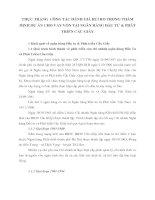 THỰC TRẠNG  CÔNG TÁC ĐÁNH GIÁ RỦI RO TRONG THẨM ĐỊNH DỰ ÁN CHO VAY VỐN TẠI NGÂN HÀNG ĐẦU TƯ & PHÁT TRIỂN CẦU GIẤY