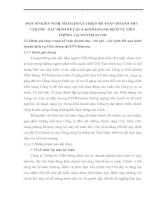 MỘT SỐ KIẾN NGHỊ NHẰM HOÀN THIỆN KẾ TOÁN DOANH THU - CHI PHÍ - XÁC ĐỊNH KẾT QUẢ KINH DOANH DỊCH VỤ VIỄN THÔNG TẠI EVNTELECOM