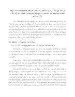 MỘT SỐ GIẢI PHÁP NHẰM TĂNG CƯỜNG CÔNG TÁC QUẢN LÝ CÁC DỰ ÁN ODA TẠI BỘ KẾ HOẠCH VÀ ĐẦU TƯ TRONG THỜI GIAN TỚI