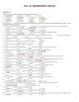 Bài giảng 12 CB UNIT 10 TEST 4