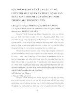 ĐẶC ĐIỂM KINH TẾ KỸ THUẬT VÀ TỔ CHỨC BỘ MÁY QUẢN LÝ HOẠT DỘNG SẢN XUẤT KINH DOANH CỦA CÔNG TY TNHH THƯƠNG MẠI THÀNH NGUYÊN