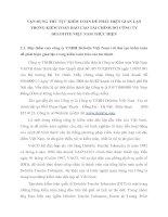 VẬN DỤNG THỦ TỤC KIỂM TOÁN ĐỂ PHÁT HIỆN GIAN LẬN TRONG KIỂM TOÁN BÁO CÁO TÀI CHÍNH DO CÔNG TY DELOITTE VIỆT NAM THỰC HIỆN