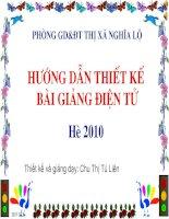 Tài liệu boi duong giao vien he 2010