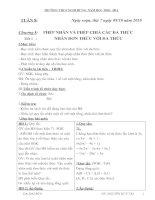 Bài giảng Đại số 8 ( Hay)
