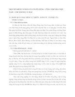MỘT SỐ ĐIỂM CƠ BẢN CỦA NGÂN HÀNG  CÔNG THƯƠNG VIỆT NAM - CHI NHÁNH CÀ MAU