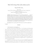 Bảo hiến trong Nhà nước pháp quyền Nguyễn Mậu Tuân