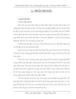 Bài giảng Sang kiến kinh nghiệm Tiếng Anh