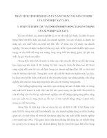 PHÂN TÍCH TÌNH HÌNH QUẢN LÝ VÀ SỬ DỤNG TÀI SẢN CỐ ĐỊNH CỦA XÍ NGHIỆP XÂY LẮP 1