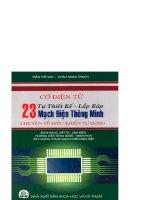 Cơ điện tử - Tự thiết kế, lắp ráp 23 mạch điện thông minh
