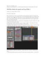 3DSMax dành cho người mới học p1