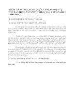 PHÂN TÍCH TÌNH HÌNH TRIỂN KHAI NGHIỆP VỤ TÁI BẢO HIỂM VẬT CHẤT THÂN TÀU TẠI VINARE