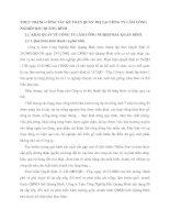 THỰC TRẠNG CÔNG TÁC KẾ TOÁN QUẢN TRỊ TẠI CÔNG TY LÂM CÔNG NGHIỆP BẮC QUẢNG BÌNH