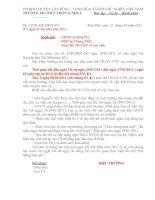 Gián án Thông báo nghỉ Tết Nguyên đán Tân Mão 2011