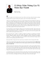 72 Phép Thần Thông Của Tề Thiên Đại Thánh