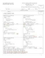 Bài giảng Tin Học 11: Đề thi - Đáp án HK1 2010-2011