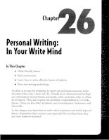 Personal Writing - In Your Write Mind