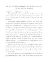 MỘT SỐ Ý KIẾN NHẰM HOÀN THIỆN CÔNG TÁC KẾ TOÁN NGUYÊN VẬT LIỆU TẠI CÔNG TY THÁNG 8
