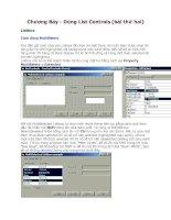 Visual Basic 6- Chương 7- Dùng Control List - Phần 2