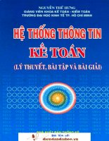 lý thuyết bài tập và bài giải hệ thống thông tin kế toán