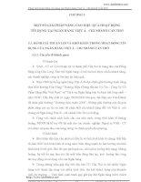 MỘT SỐ GIẢI PHÁP NÂNG CAO HIỆU QUẢ HOẠT ĐỘNG tín dụng tại Ngân hàng Việt Á - Chi nhánh Cần Thơ