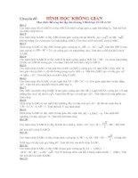 Tài liệu Tuyển tập các đề Hình học Không gian
