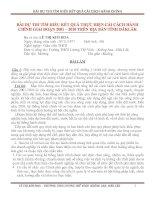 Tài liệu BÀI THI TÌM HIỂU KẾT QUẢ THỰC HIỆN CẢI CÁNH HÀNH CHÍNH GIAI ĐOẠN 2001- 2010 TỈNH ĐĂK LĂK
