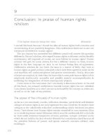 Conclusion - In praise of human rights nihilism