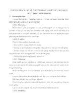 PHƯƠNG PHÁP LUẬN VÀ PHƯƠNG PHÁP NGHIÊN CỨU HIỆU QUẢ HOẠT ĐỘNG KINH DOANH