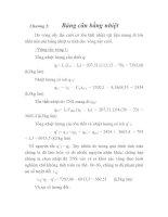 Chương 5: Bảng cân bằng nhiệt Do vòng sấy lần cuối có tổn thất nhiệt vật