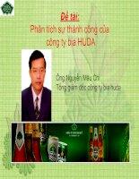Phân tích sự thành công của công ty bia HUDA