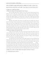 MỘT SỐ KIẾN NGHỊ NHẰM HOÀN THIỆN TỔ CHỨC CÔNG TÁC HẠCH TOÁN NGUYÊN VẬT LIỆU TẠI CÔNG TY XÂY DỰNG SỐ