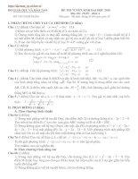 Bài giảng LT cấp tốc Toán 2010 số 7